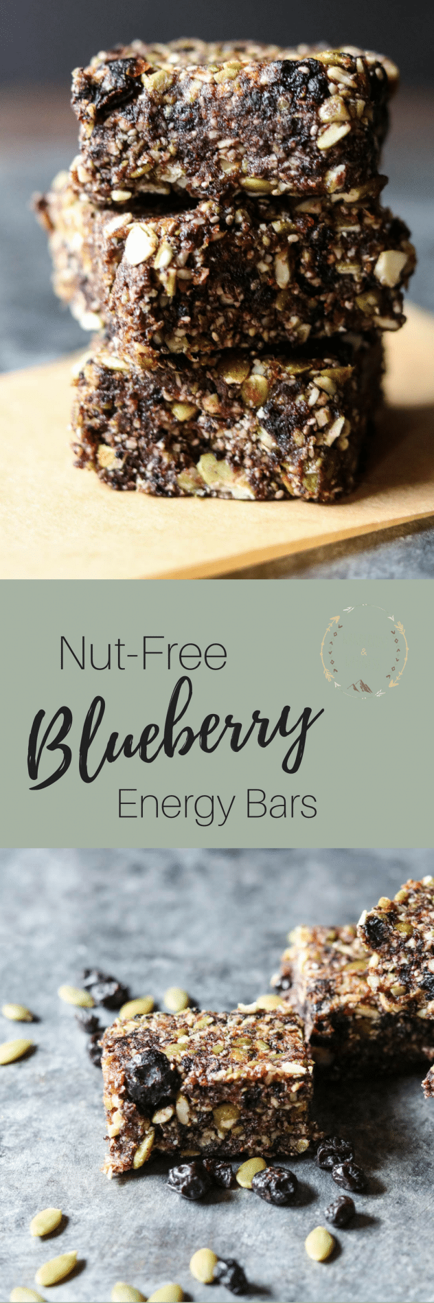 nut-free blueberry energy bars