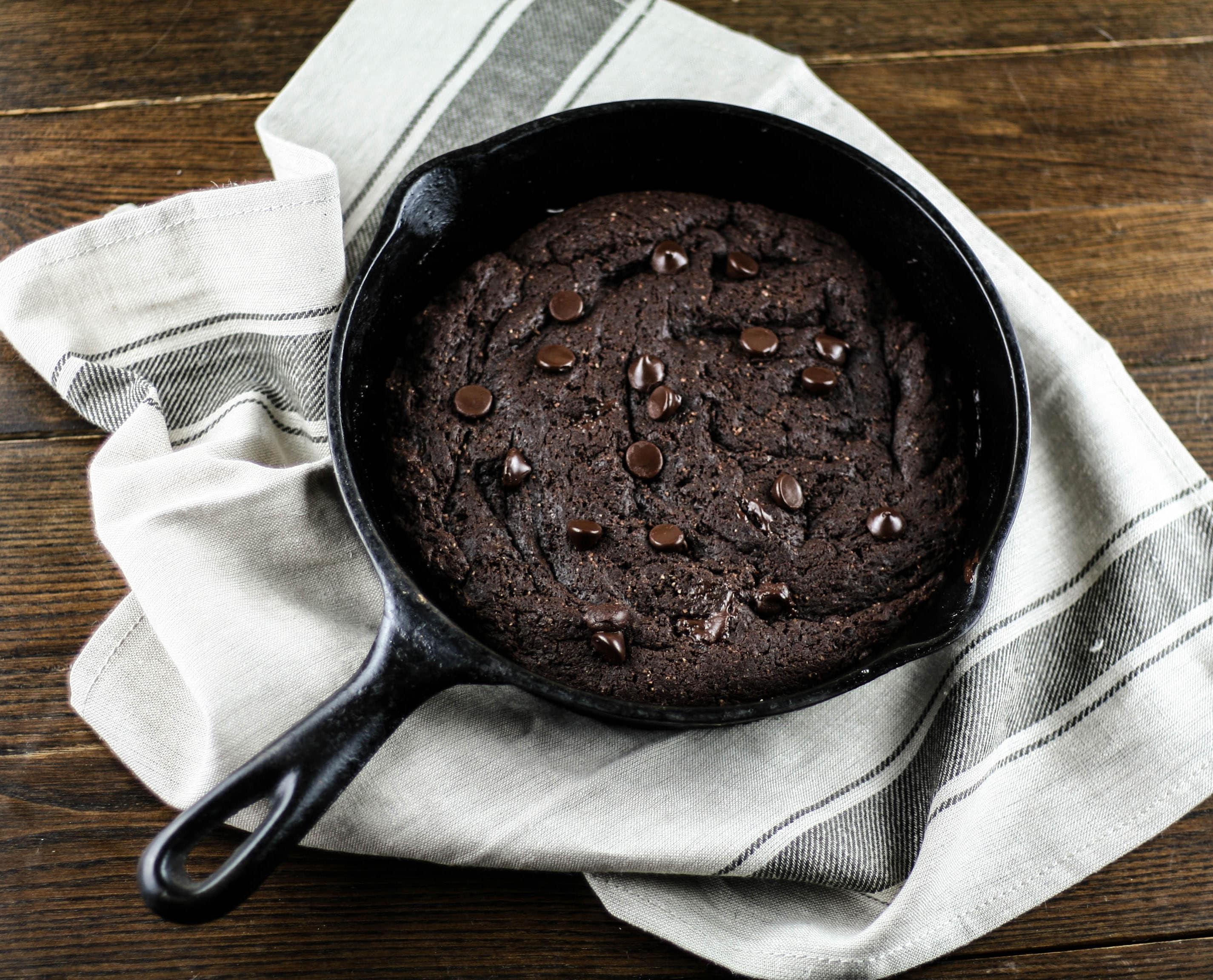 Grain-free skillet brownies