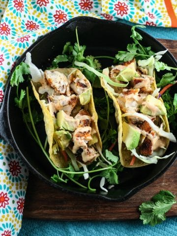 blackened mahi mahi tacos