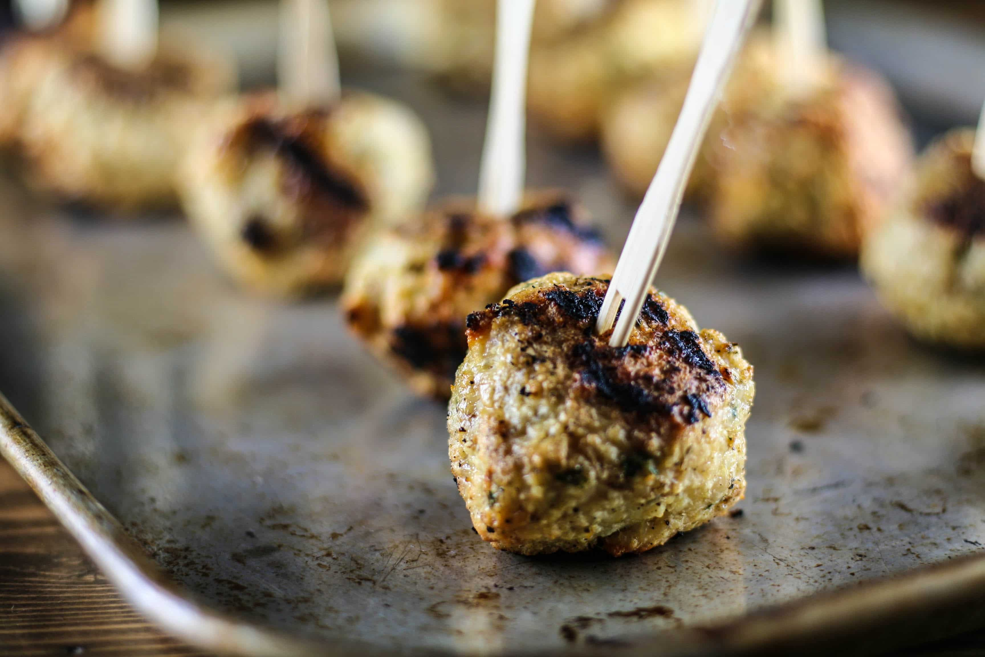 Grilled Greek Meatballs