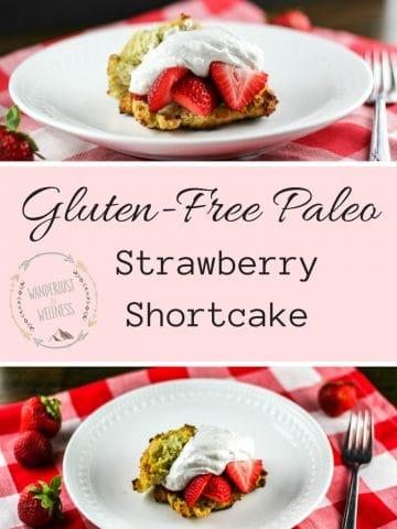 gluten-free paleo strawberry shortcake