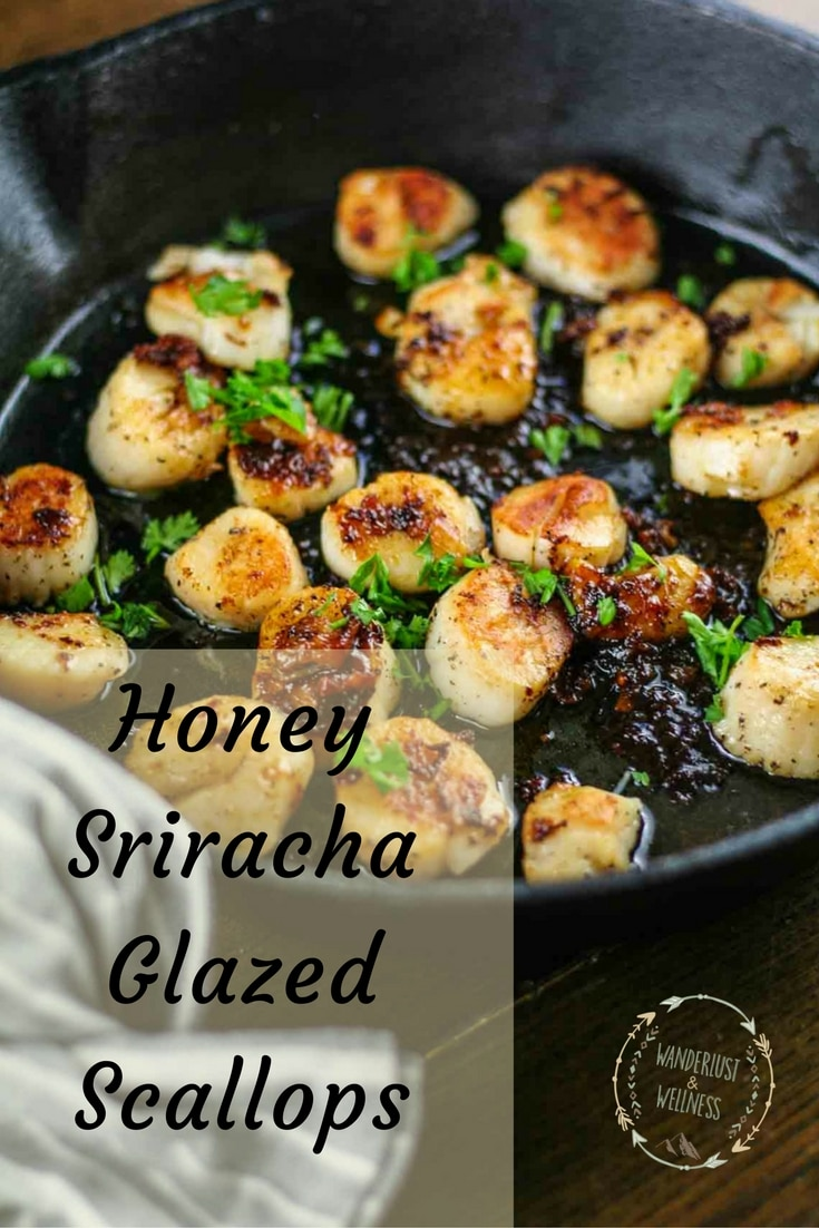 honey sriracha glazed scallops