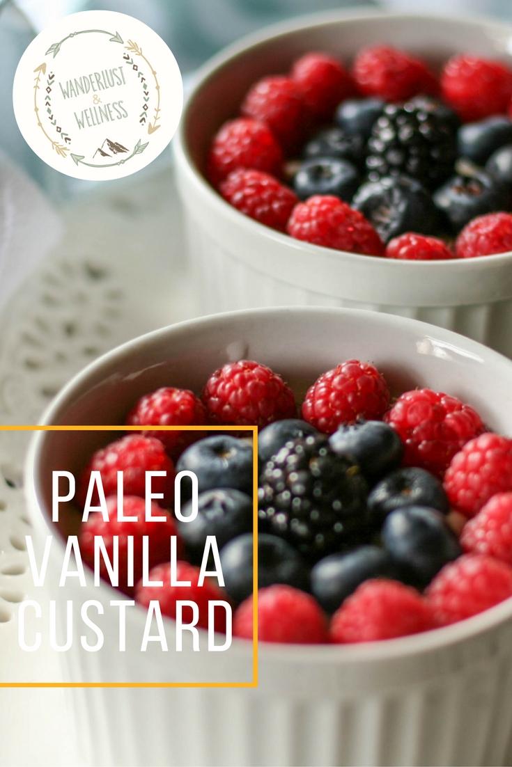 Paleo vanilla custard