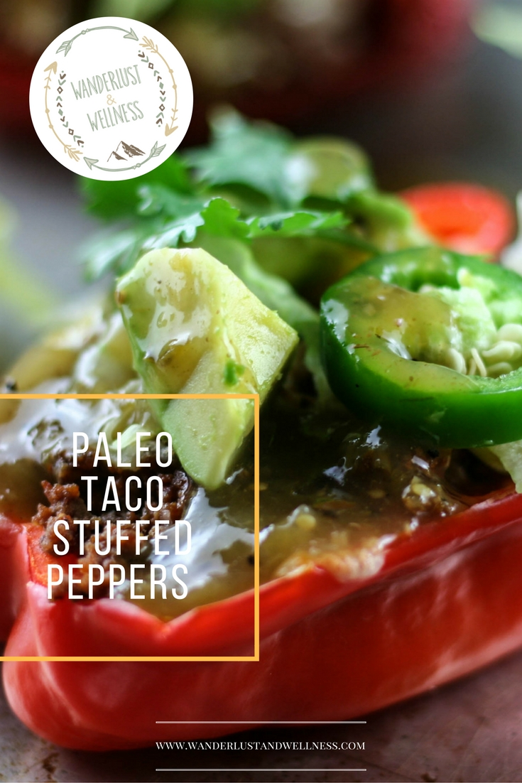 Paleo taco stuffed peppers