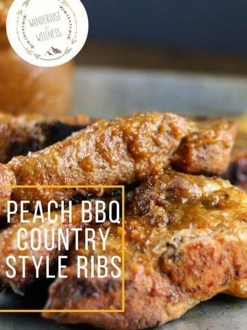 peach bbq country style ribs