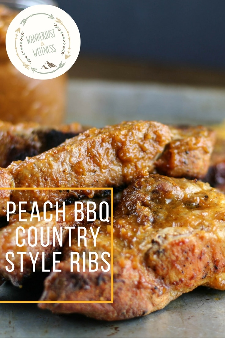peach bbq country style ribs