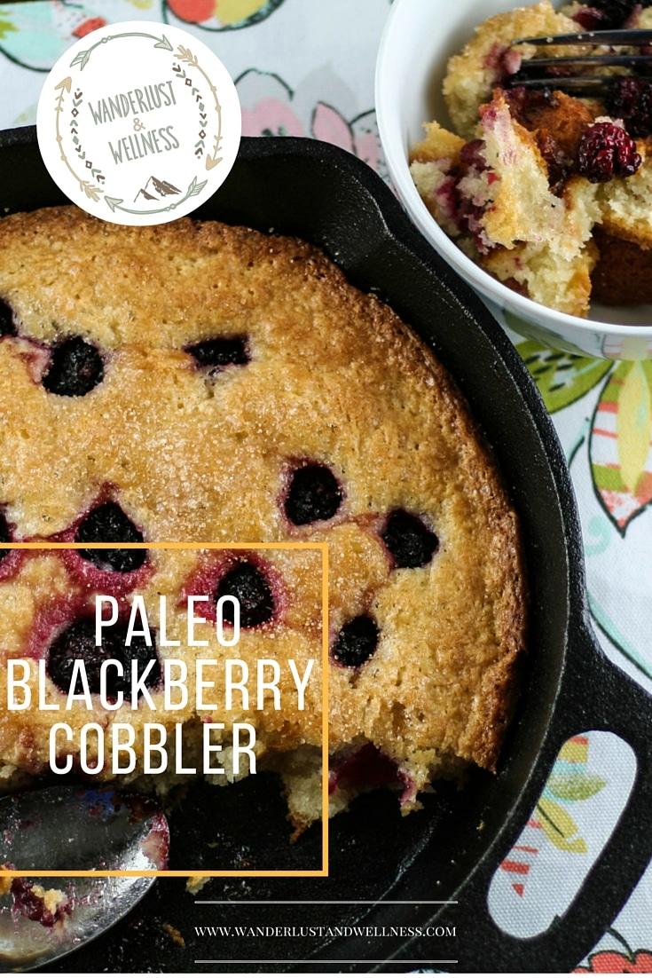 gluten-free blackberry cobbler