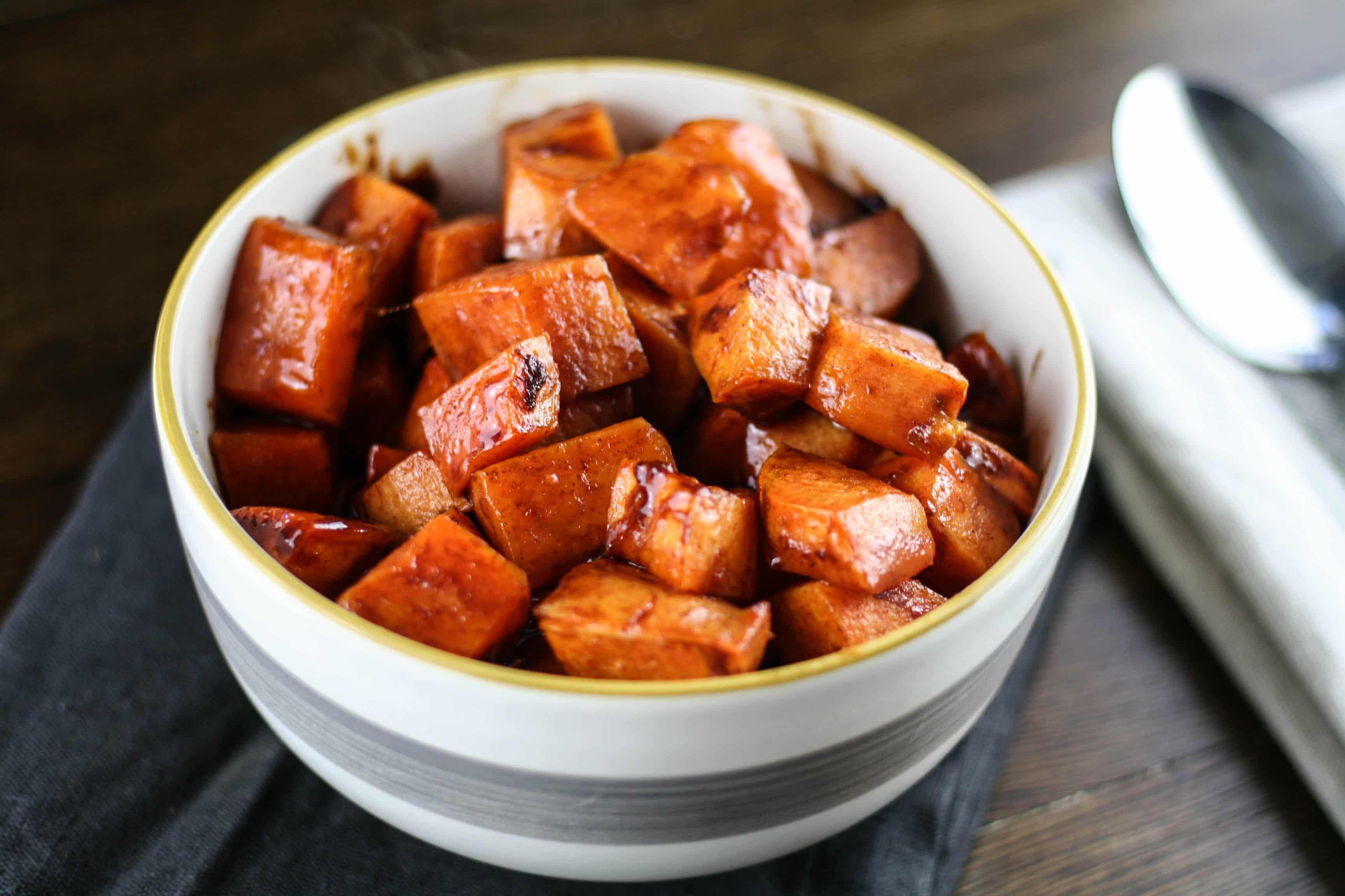 cinnamon honey sweet potatoes