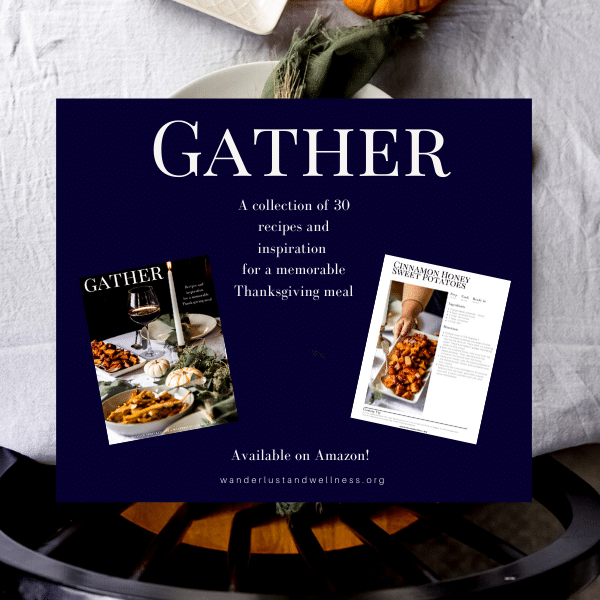collage for Gather - A Thanksgiving Cookbook