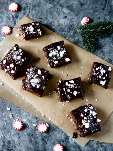 Peppermint Sweet Potato Brownies