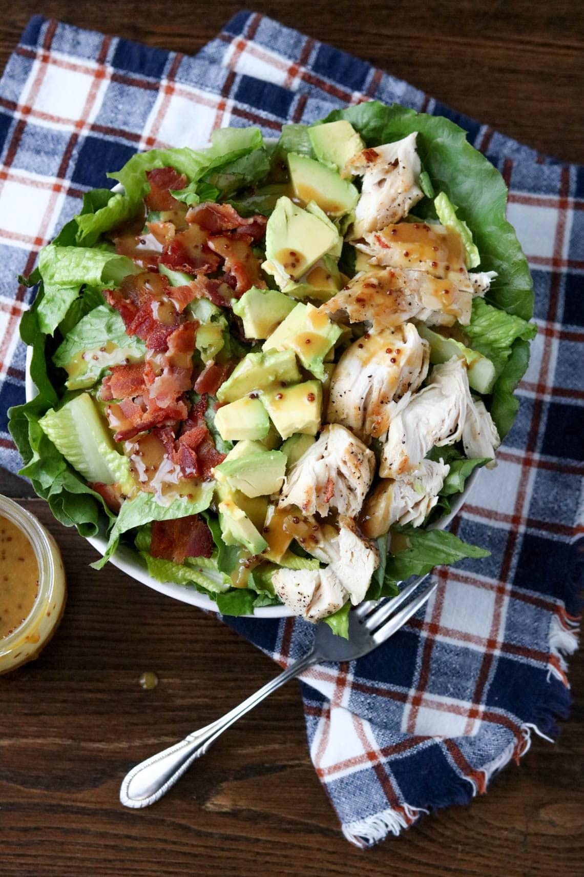 Chicken Bacon Honey Mustard Salad