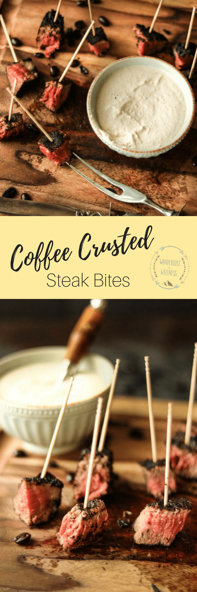 coffee crusted steak bites