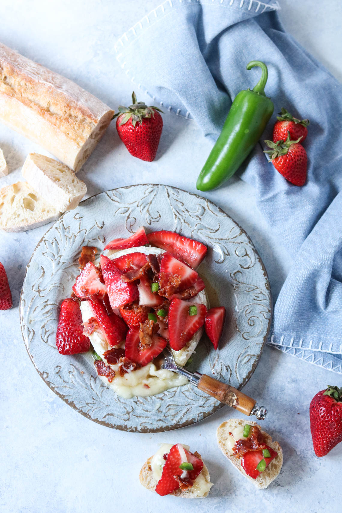 Strawberry Bacon Brie