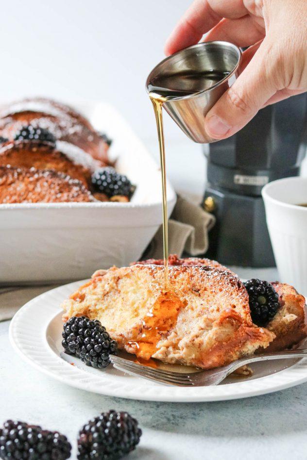 Blackberry Marscapone French Toast