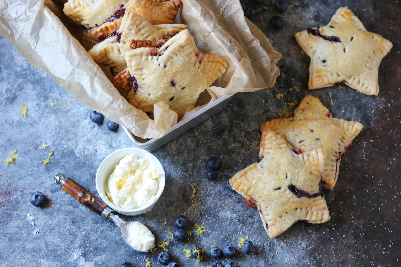 Lemon Blueberry Marscapone Hand Pies