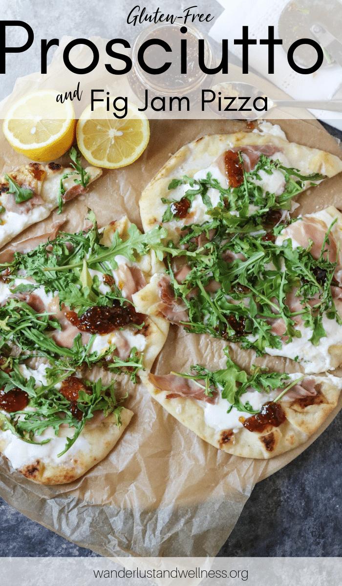 two prosciutto burrata pizzas on a table