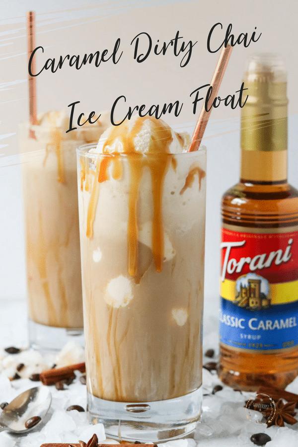Torani caramel dirty chai ice cream float, #shop #collectivebias #toraniendlesssummer