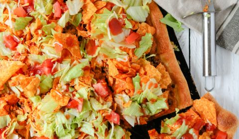 homemade taco pizza