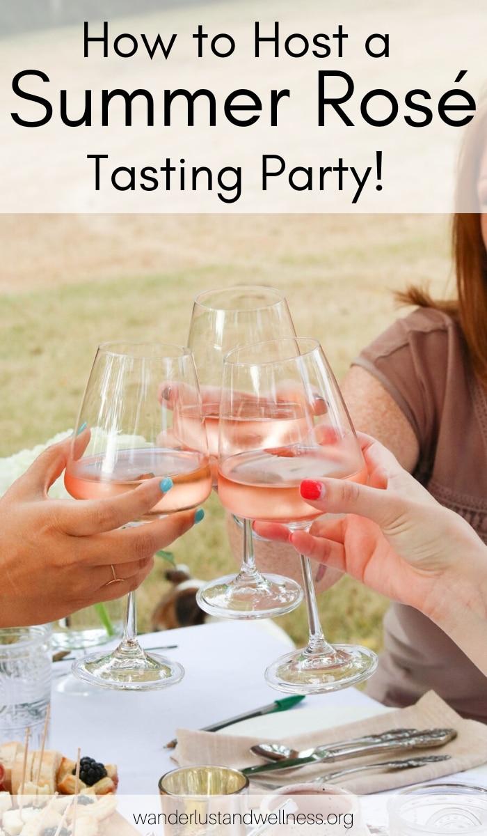 three women toasting a glass of rosé