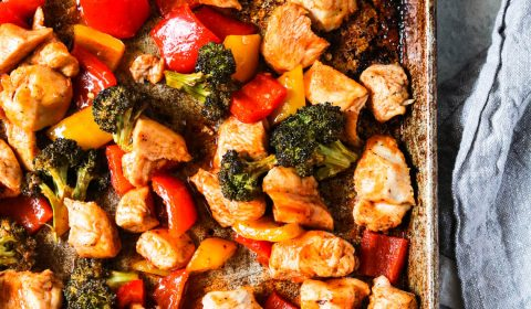 sheet pan sweet and spicy chicken