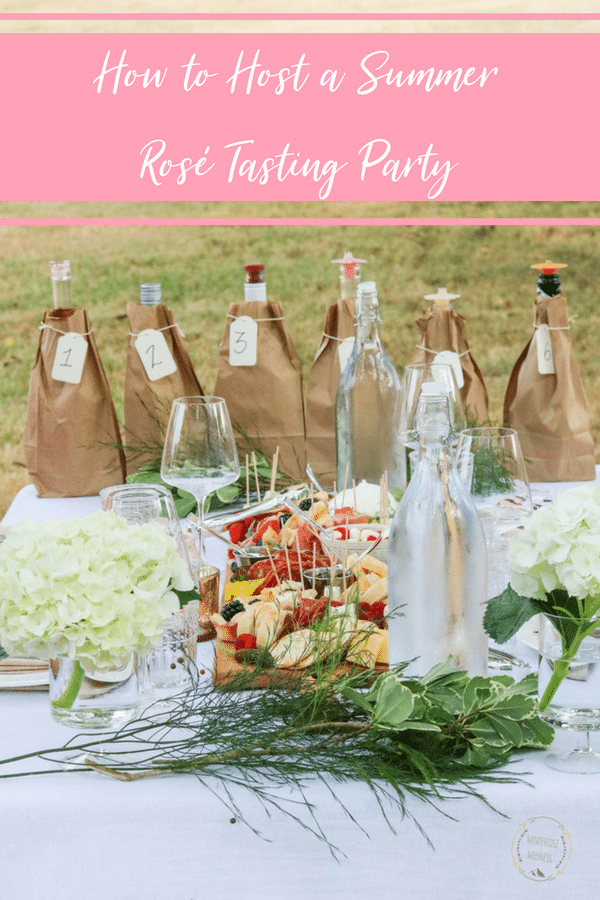 hosting a rosé tasting party