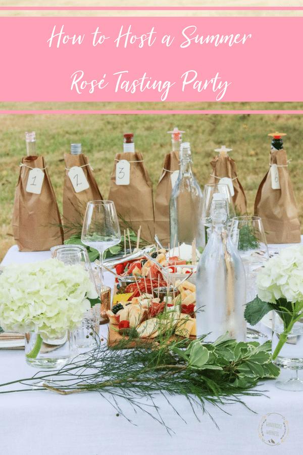hosting a rosé tasting party