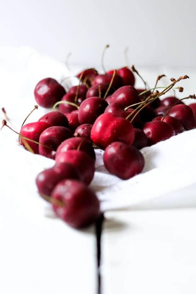 fresh Washington cherries