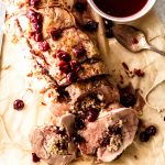 stuffed pork tenderloin with cherry port sauce