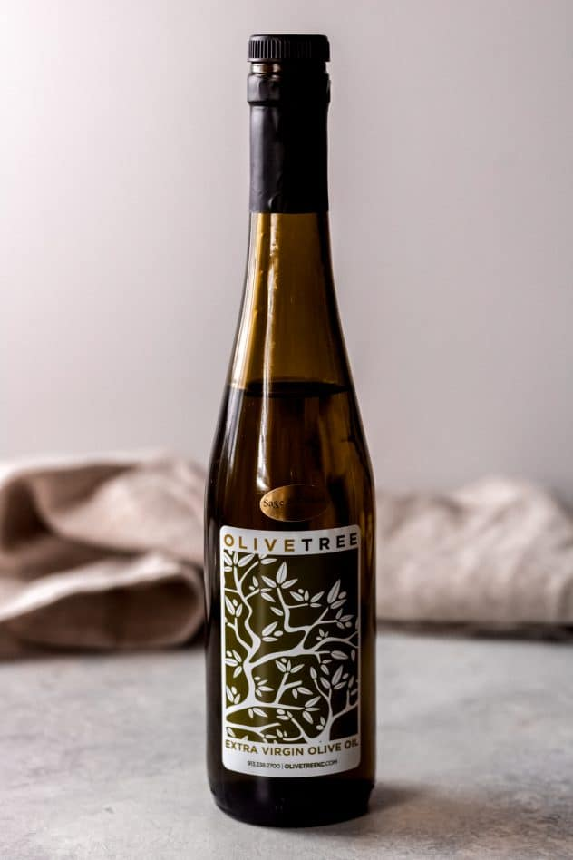 a bottle of sage and onion olive oil from Olive Tree