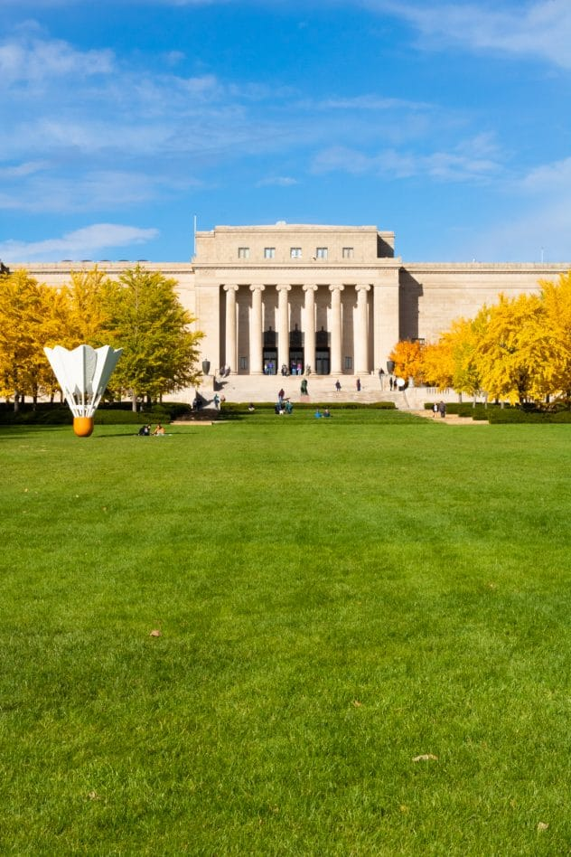Nelson-Atkins Museum lawn in Kansas City, Missouri