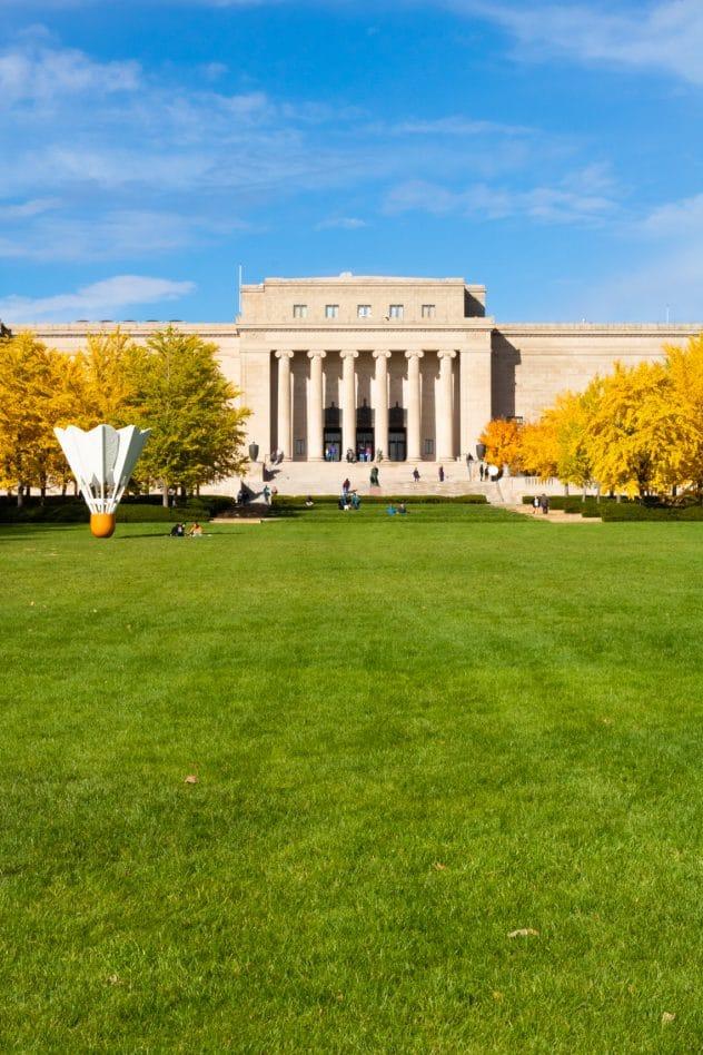 Nelson-Atkins Museum lawn in Kansas City, Missouri