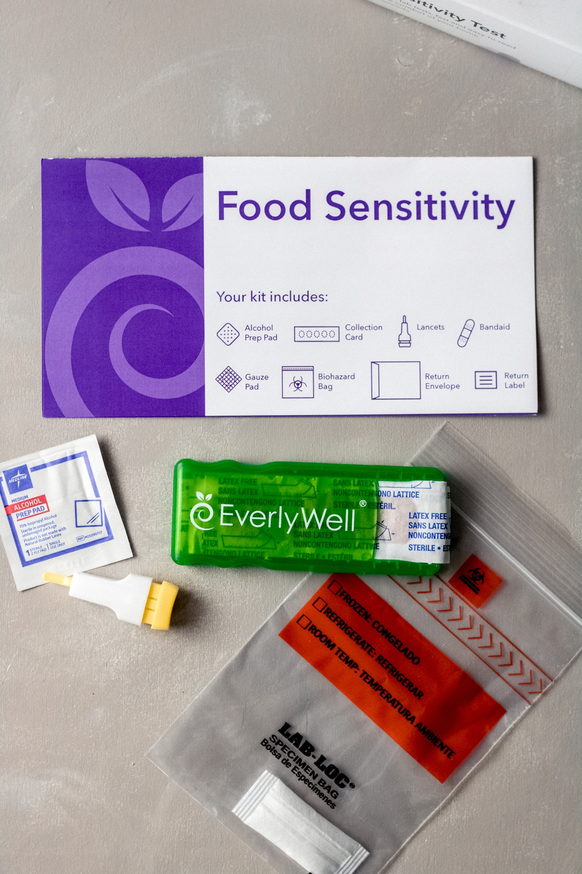 the components of an EverlyWell Food Sensitivity Test