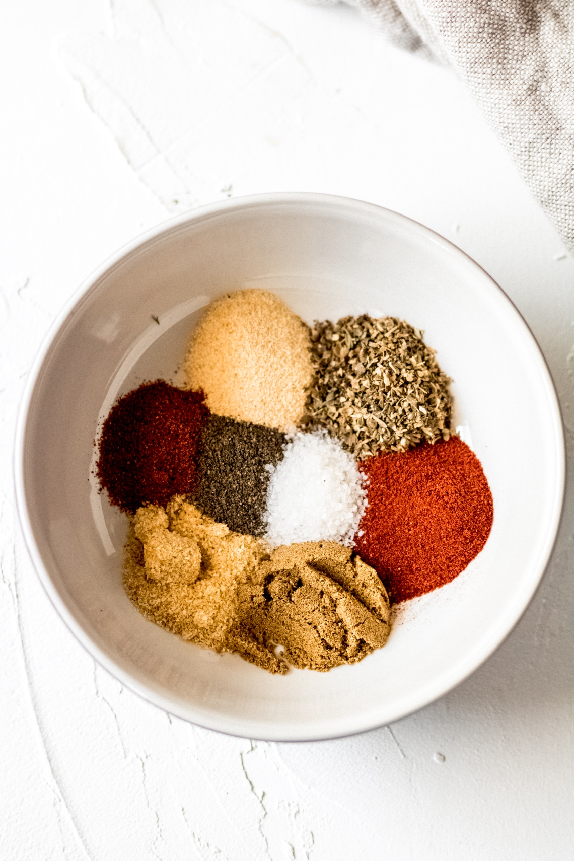 blackening spices in a white bowl
