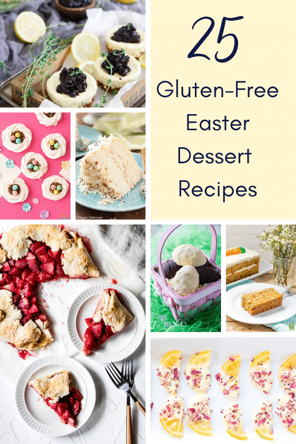 a image collage of gluten-free easter dessert recipes