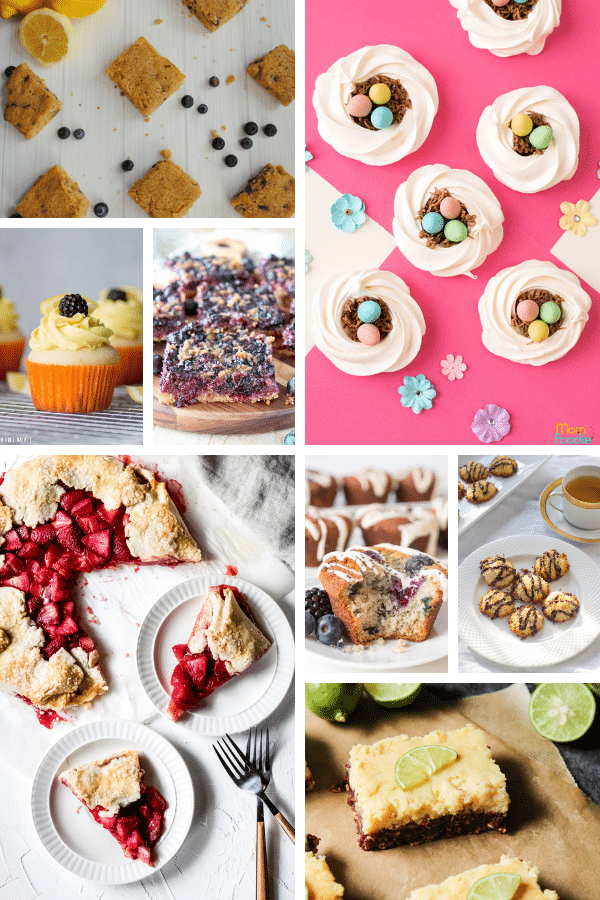 a collage of gluten-free easter desserts