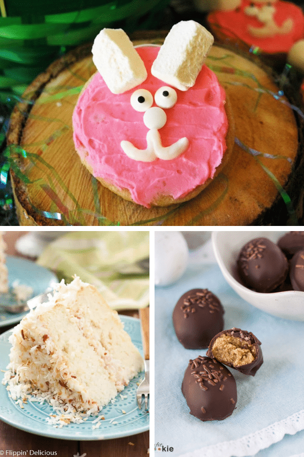 a collage of gluten-free easter dessert recipes