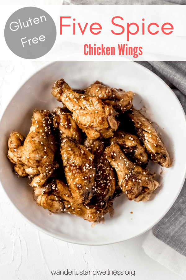 a bowl of five spice chicken wings