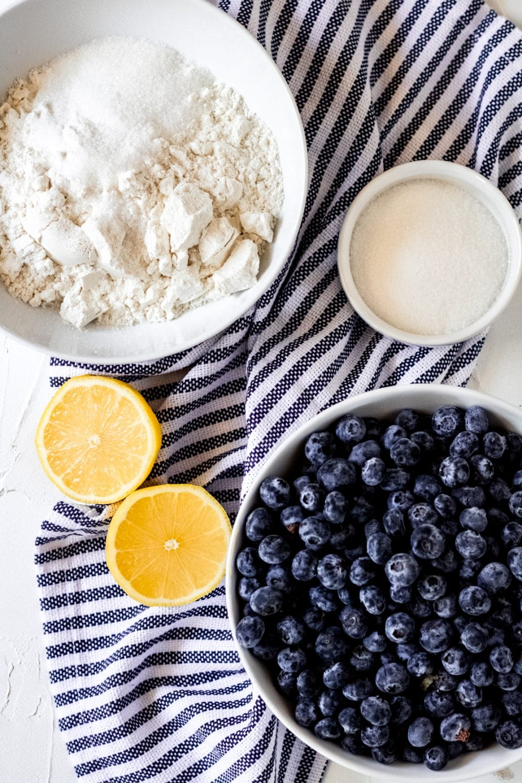 ingredients for gluten-free blueberry galette