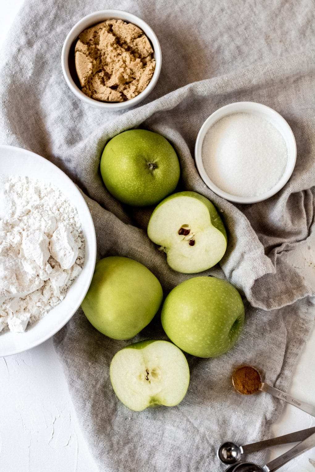 ingredients for gluten-free mini apple galettes