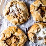 four gluten-free mini apple galettes