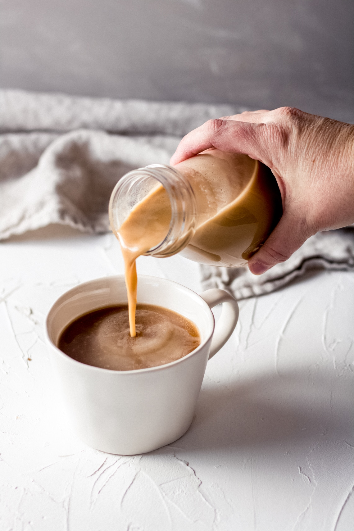 Homemade Dairy Free Salted Caramel Coffee Creamer • Wanderlust and Wellness