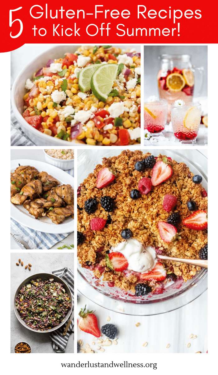 pin image for 5 gluten-free recipes to kick off summer