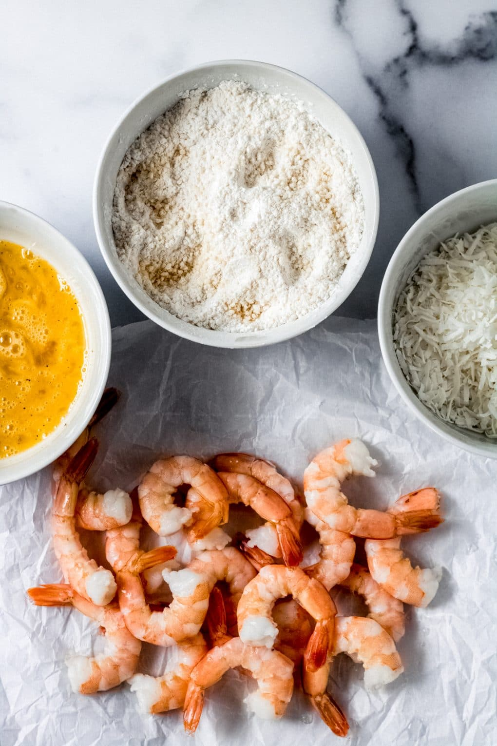 ingredients for gluten-free air fryer coconut shrimp