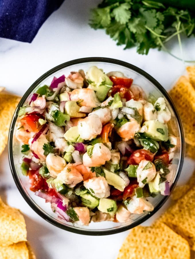 a bowl of coconut lime ceviche