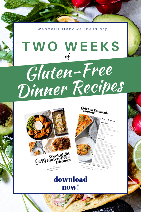 two weeks of gluten-free dinner recipes