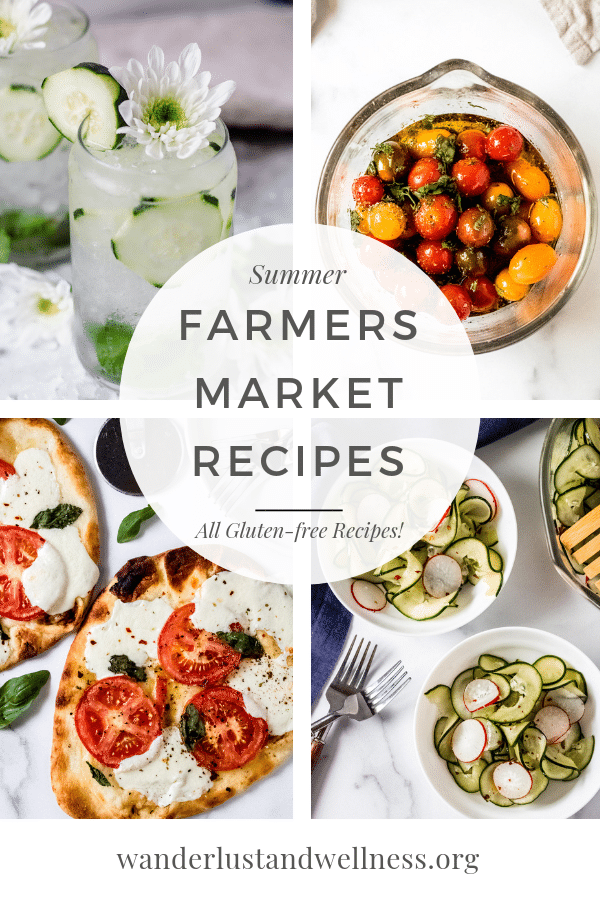 pinterest image collage for summer farmer's market recipes