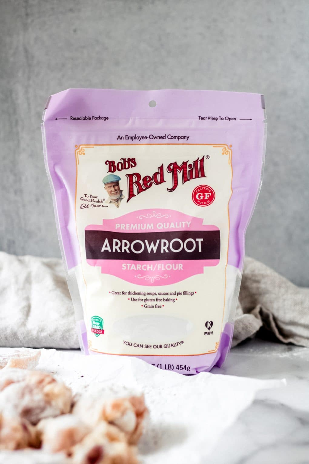 a bag of bob's red mill arrowroot starch