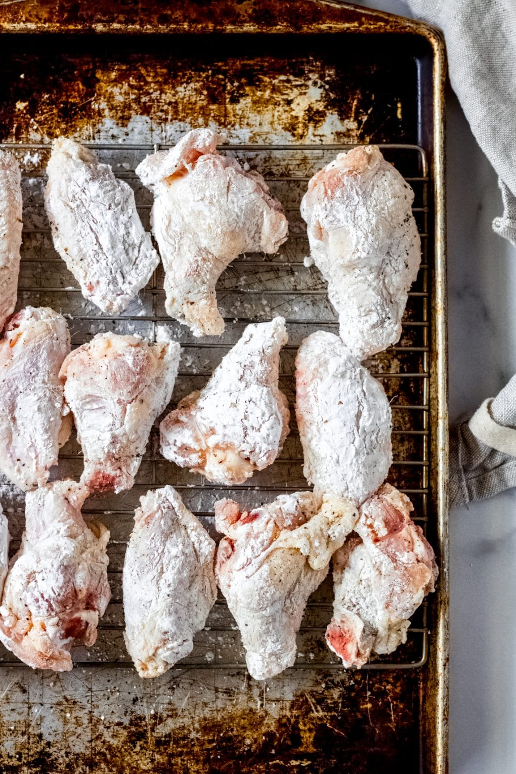 uncooked oven fried chicken wings