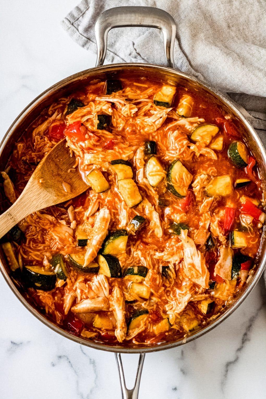 easy zucchini enchilada skillet