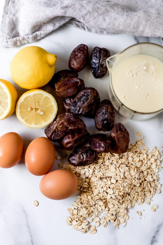 ingredients to make gluten-free lemon bars